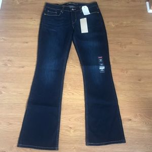 Levis 524 Boot Cut Size 7 Denim Blue Jeans
